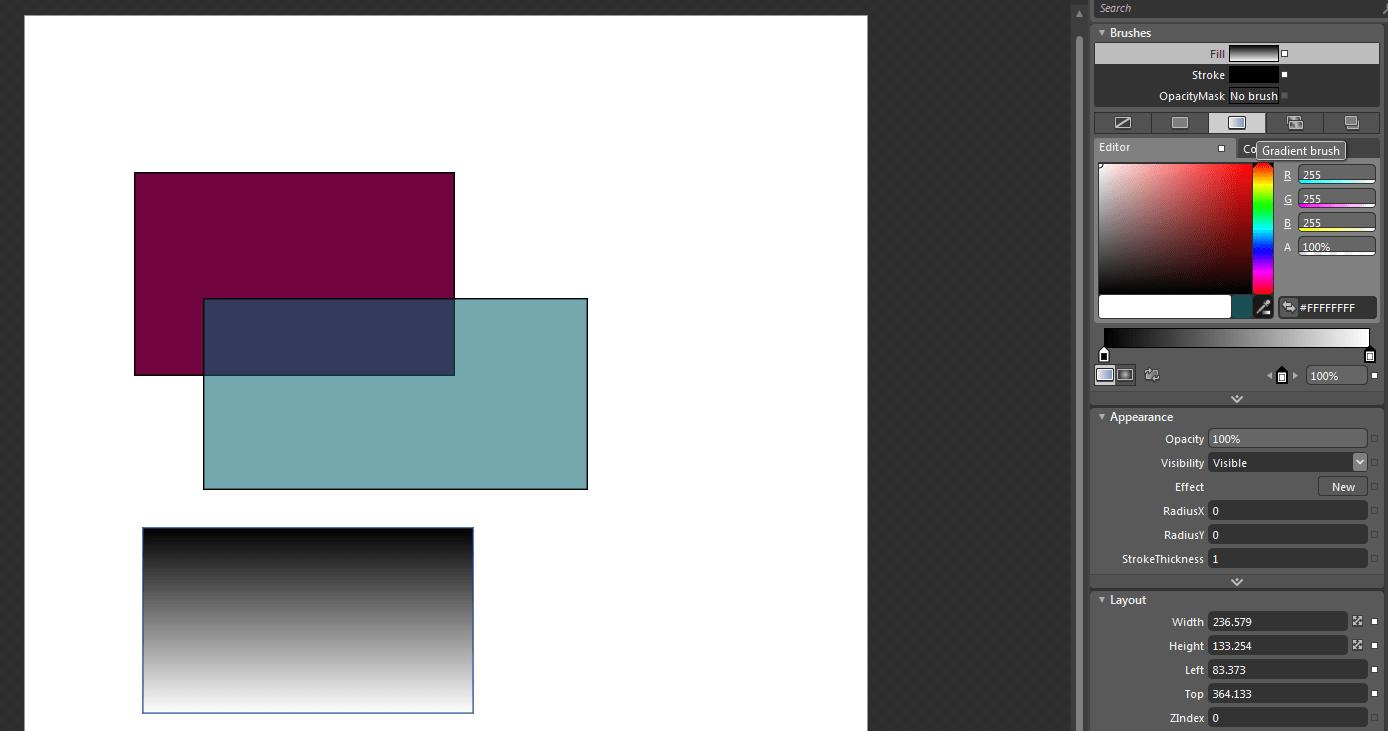 Learn wpf part 4 of 9 graphics in windows presentation wpf linear gradient brush baditri Gallery
