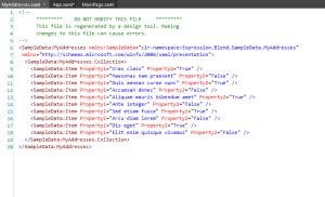 Expression Blend 4 : Sample Data xaml