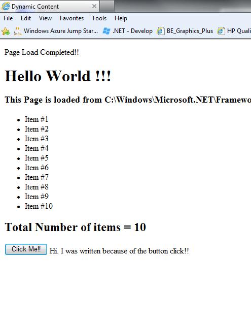 ASP.NET Control Event Handling