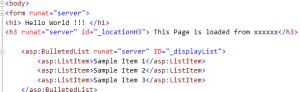 HTML Controls ASP.NET