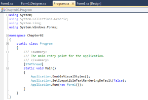 Visual Studio Tabbed View