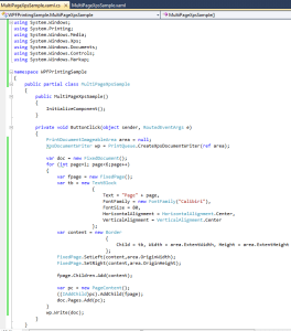 WPF Multi Page XPS