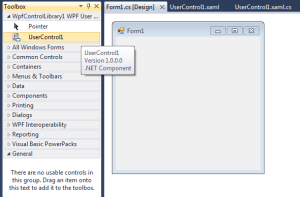WPF inside Windows Forms