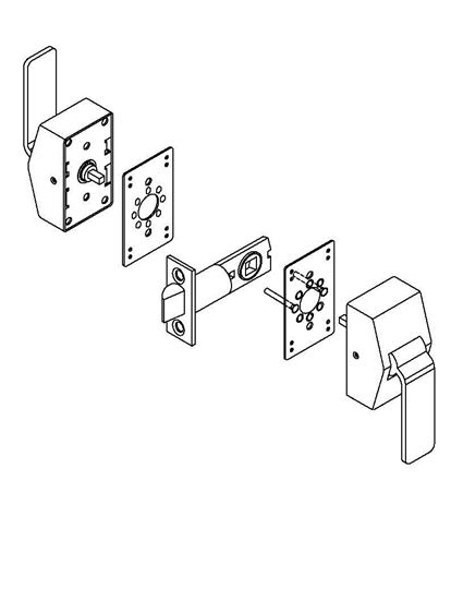 6100 Series Hospital Latch for Existing 161 Prep Template