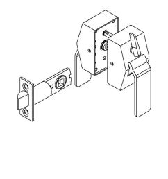 picture of 6400 series privacy hospital latch pull side thumbturn  [ 816 x 1056 Pixel ]