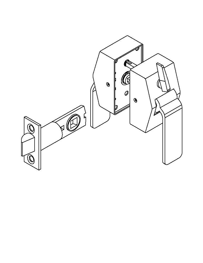 hight resolution of picture of 6400 series privacy hospital latch pull side thumbturn