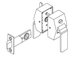 picture of 6500 series privacy hospital latch push side thumbturn  [ 816 x 1056 Pixel ]