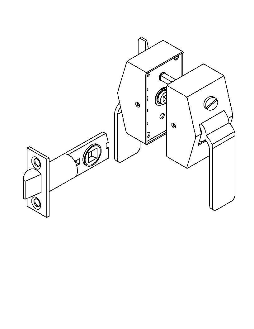 hight resolution of picture of 6500 series privacy hospital latch push side thumbturn