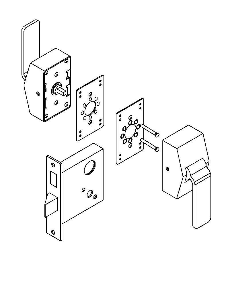 6600 Series Mortise Lock Hospital Latch. Architectural Builders Hardware Mfg. Inc.