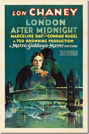 """London After Midnight Poster 1927 MGM"" by MGM - ha.com. Licensed under Public Domain via Wikimedia Commons"