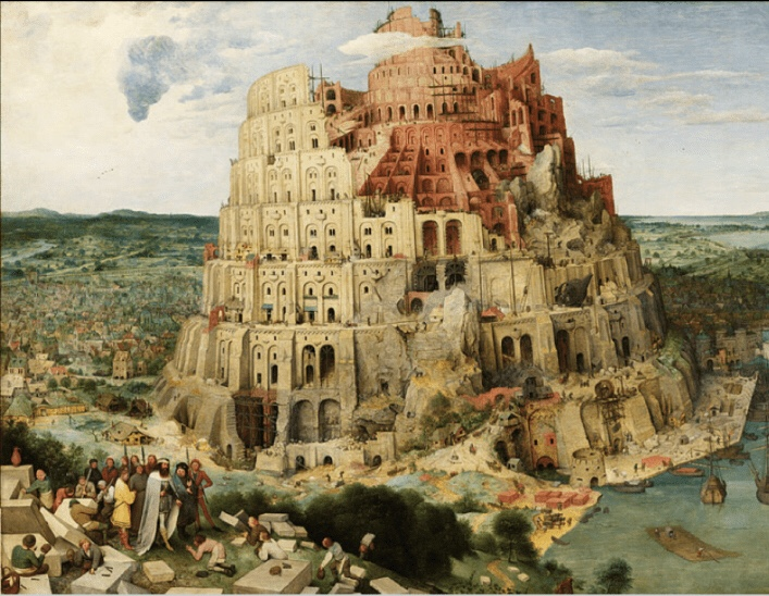 Peter Bruegel painting Tower of Babel make a name