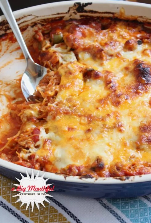 Spaghetti Squash Bake | A Big Mouthful