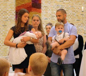 Familien kort før dåben