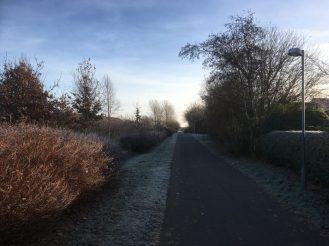 Nydelse på en frostklar formiddag