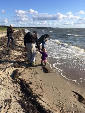 Strandtur i Trend i blæsvejr