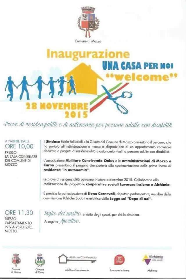 Inaugurazione WELCOME 2015
