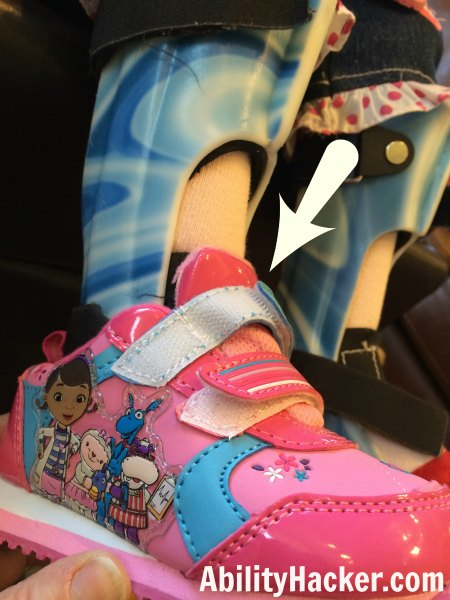 Hacking Cute Shoes for AFOs - Velcro too short