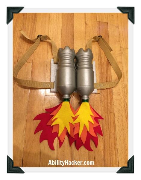 Rocket girl jetpack backpack