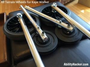 How the all terrain kaye walker wheels look when they arrive