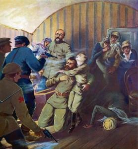 O Czar e sua família foram transladados, juntamente com seus servidores, à Casa Ipatiev, em Ekaterimburgo, onde foram massacrados em julho de 1918