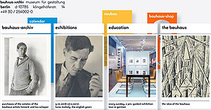 web design : Bauhaus-Archiv