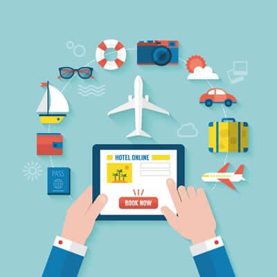 Progression des réservations des voyages sur mobile