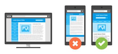 Oublier la vitesse du site internet et l'optimisation mobile