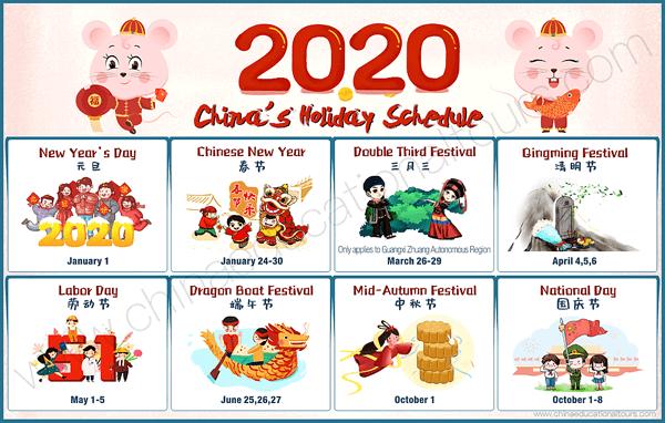 Se renseigner sur les dates clés du calendrier des fêtes chinoises