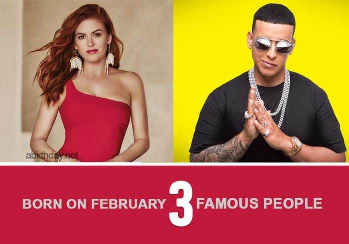 Famous People Born on February 3