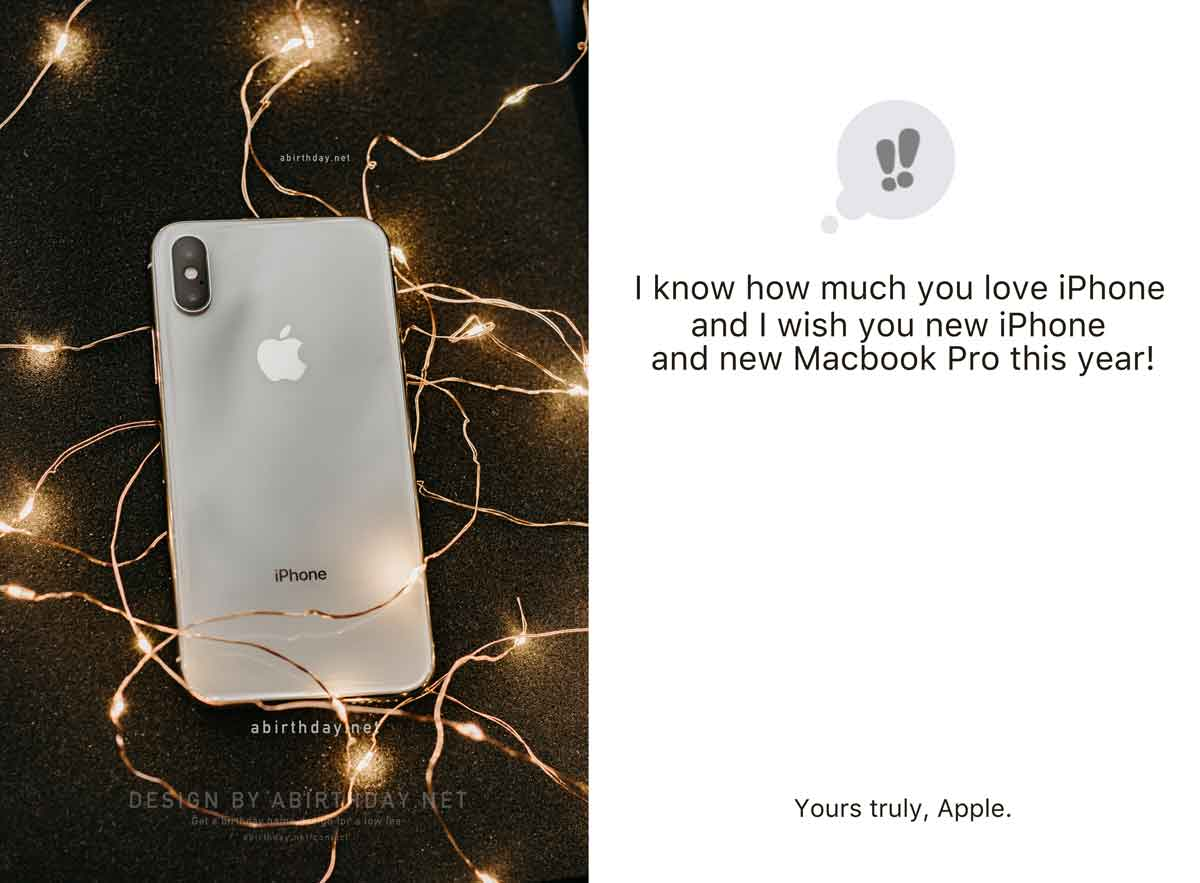 Gold iPhone Birthday Meme