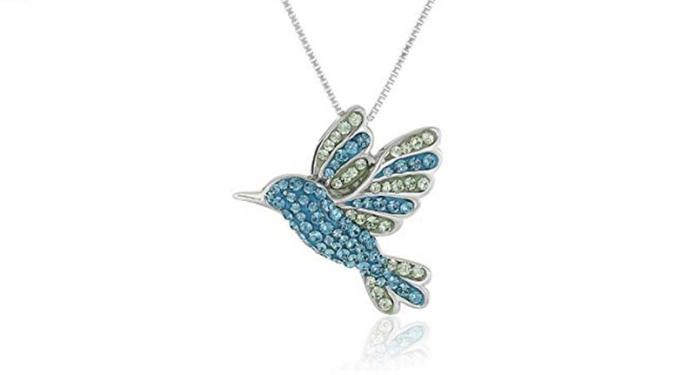 Sterling Silver Hummingbird necklace – present for girlfriend