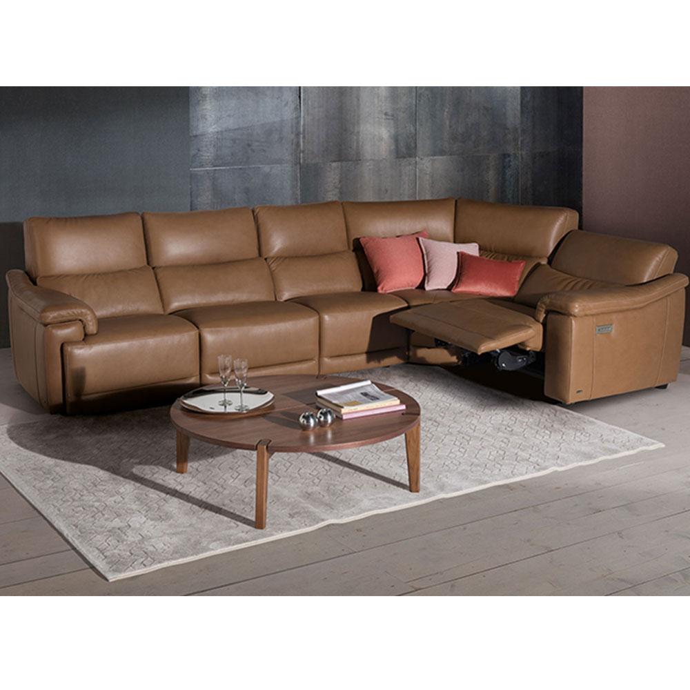 natuzzi editions brama recliner corner sofa