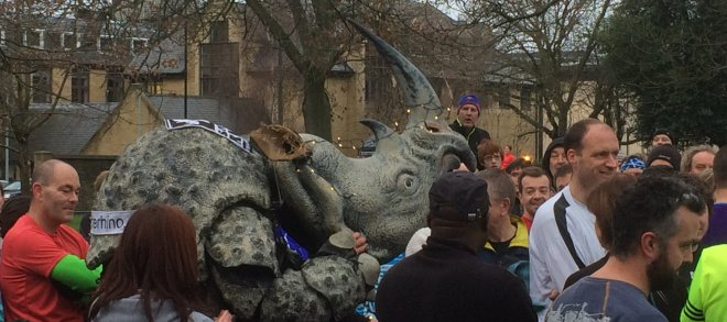 pic of Rhino runner at start of parkrun