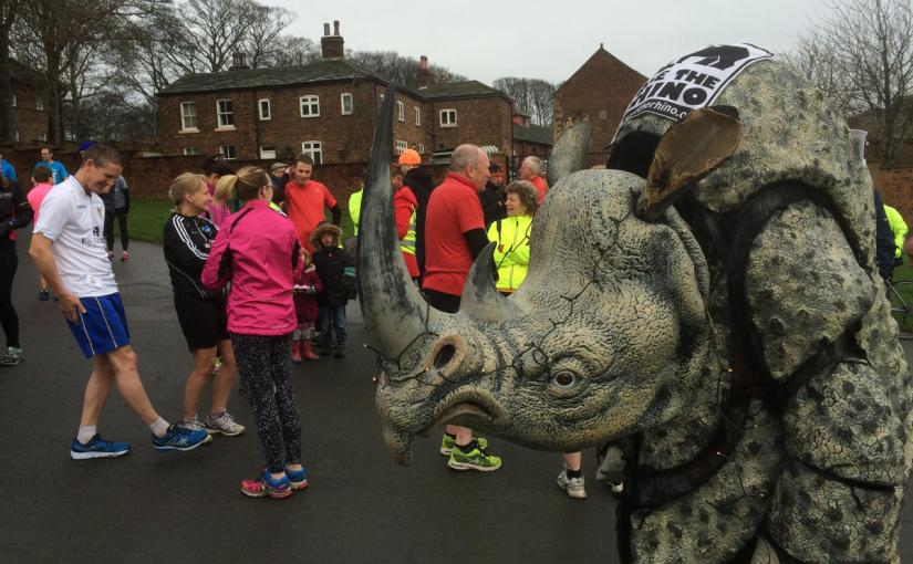 pic of Jim waiting at start at Temple Newsam parkrun