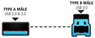 Câble USB 2.0 3.0 type A mâle vers type B mâle 3.0