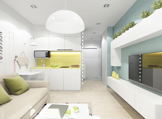 дизайн маленькой квартиры студии 3