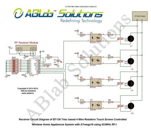 small resolution of bt136 triac based 4 wire resistive touch screen