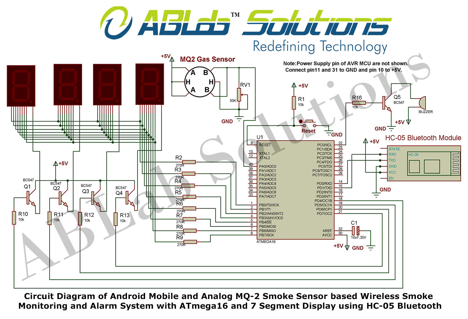 hight resolution of avr microcontroller based fire alarm circuit diagram schema wiring android mobile and analog mq 2 smoke