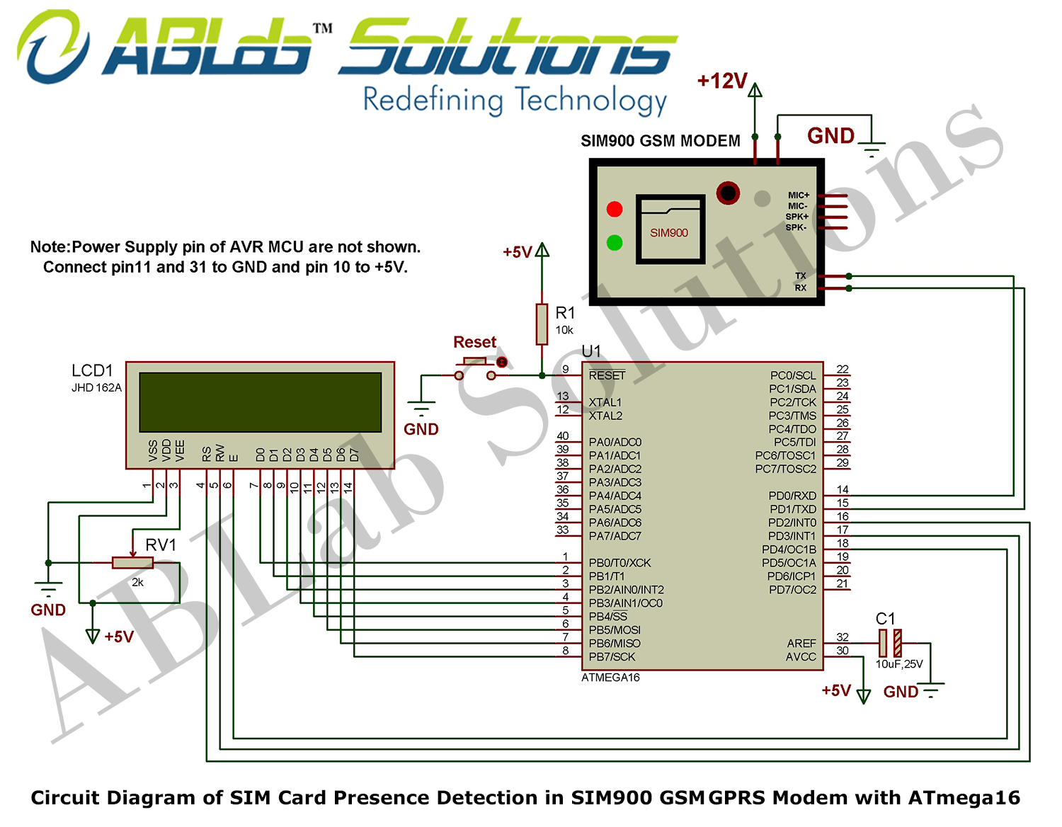 sim card reader circuit diagram ford focus radio wiring presence detection in sim900 gsm gprs modem with avr of atmega16 microcontroller png