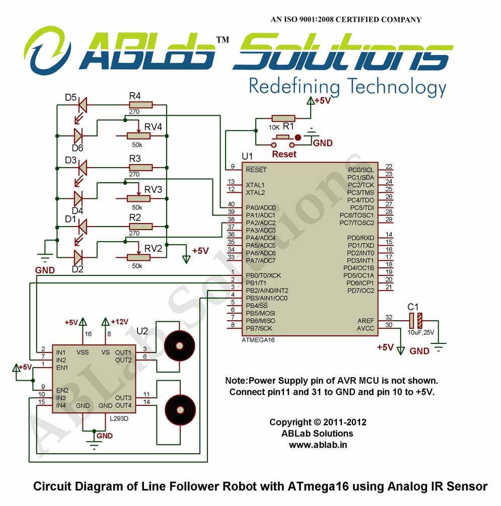 medium resolution of circuit diagram line follower robot with avr atmega16 microcontroller using analog ir
