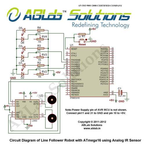 small resolution of circuit diagram line follower robot with avr atmega16 microcontroller using analog ir