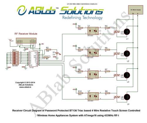 small resolution of touch screen based home appliance control system using wireless relay based 4 wire resistive touch screen controlled wireless home