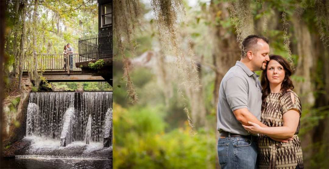 Engagement session at The Millstone at Adams Pond