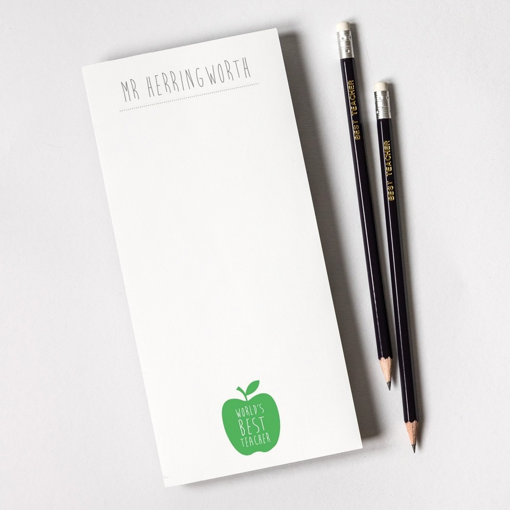 personalised teacher notepad and