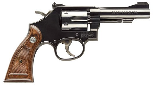 Smith & Wesson Model M18 Classic Revolver 150478. 22 Long Rifle. 4 in. Checkered Wood Grip. Bright B - Able Ammo