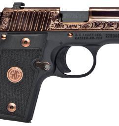 sig p238 rose gold pistol 238380erg 380 acp 3 black g10 grips rose gold finish 7 rds [ 1500 x 1080 Pixel ]