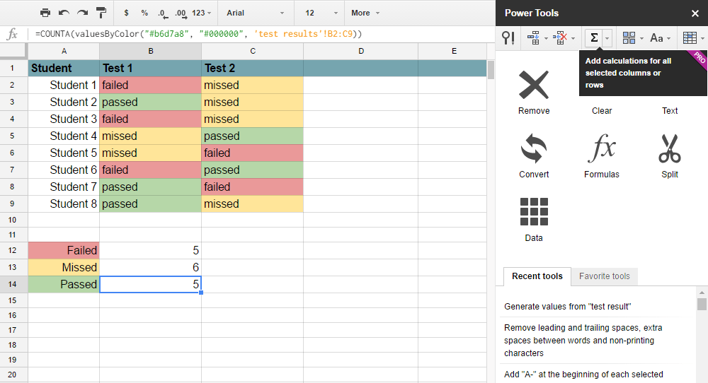 Power Tools add-on for Google Sheets