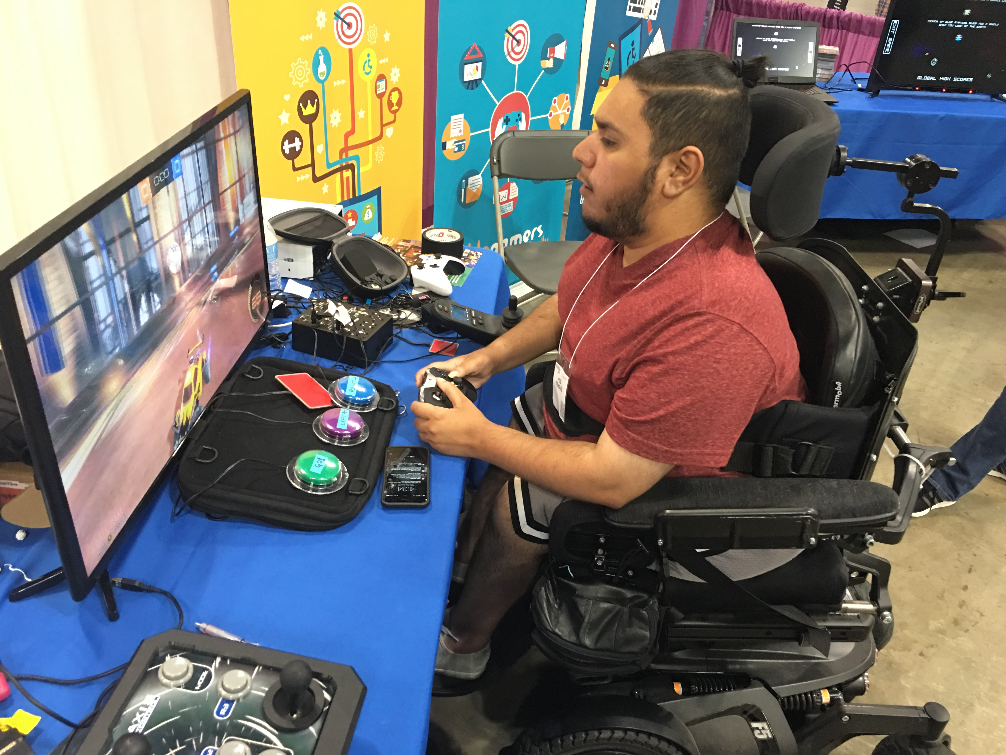 wheelchair mario blue high back chair get well gamers is now part of ablegamers the