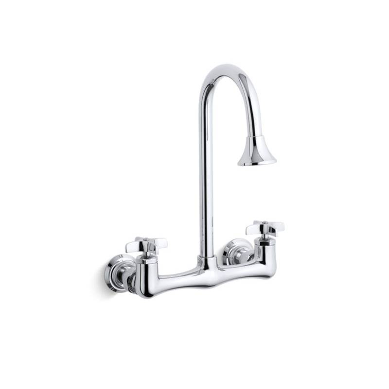 triton double cross handle utility sink faucet with rosespray goos