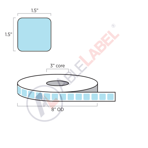 Direct Thermal Color Paper Labels   Able Label   1.5